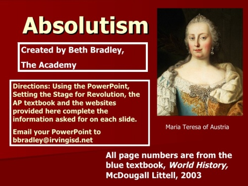 Absolutism Facts