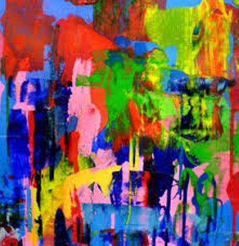 Colorful Abstract Movement Painting