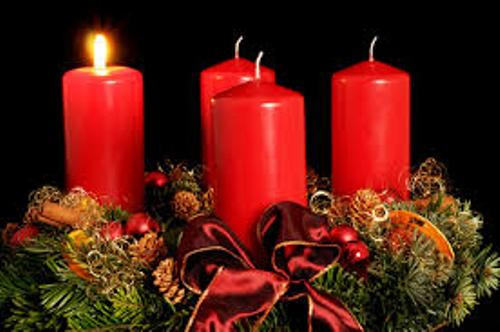 Advent Wreath Red