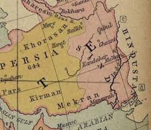Afghanistan history Map