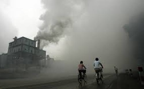 Air Pollution in China Factories