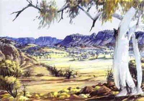 10 facts about albert namatjira fact file for Australian mural artists