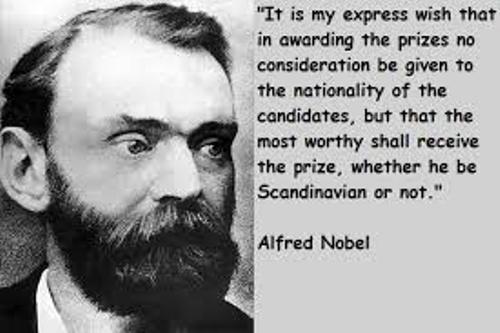 Alfred Nobel Quote