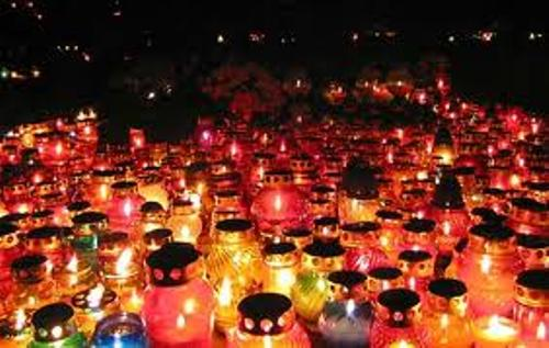 All Saints' Day Candles