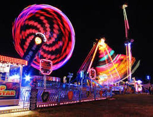 Amusement Parks at Night