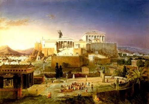 Ancient Athens in Past