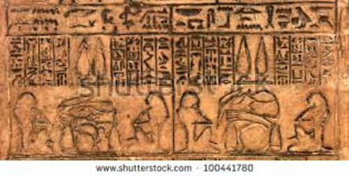 Ancient Egypt Hieroglyphics Carving