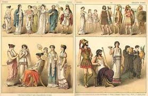 Ancient Greece Clothing Colors