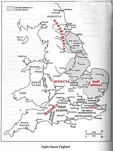 Anglo Saxon England Map