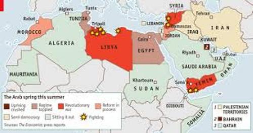 Arab Spring Map