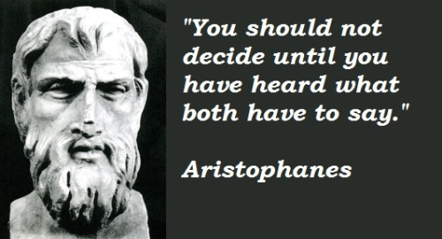 Aristophanes Quote