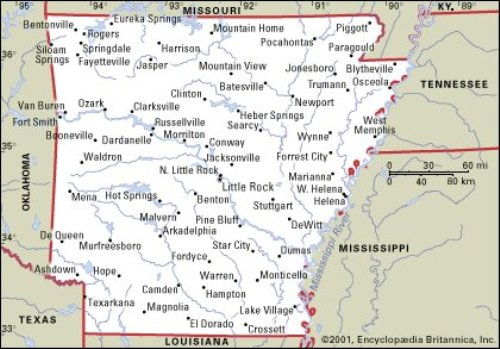 Arkansas Map Pic