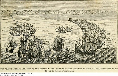 Spanish and English Armada