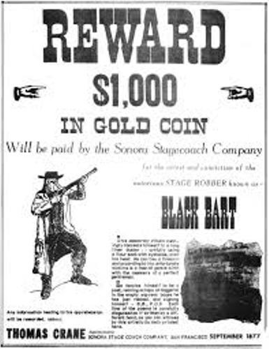 Black Bart Reward
