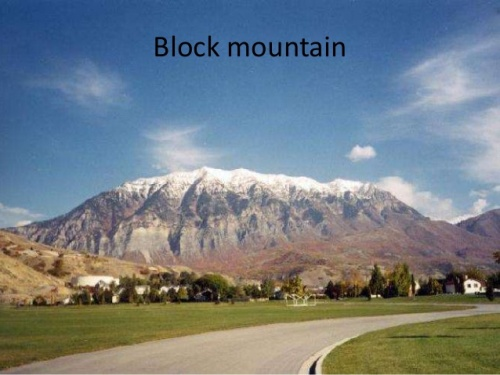 Facts about Block Mountains