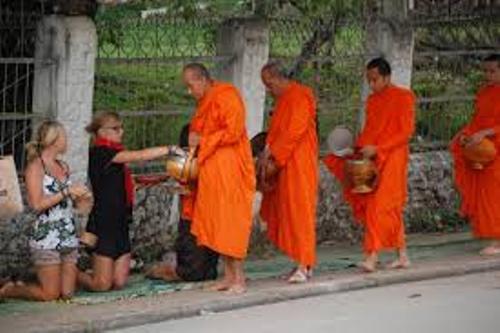 Buddhist Monks in Robes