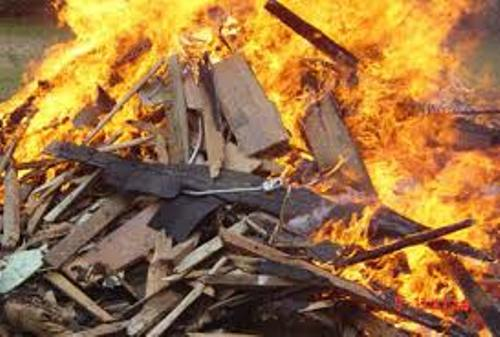 Burning Material