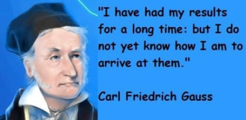 Carl Friedrich Gauss Quote