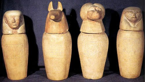 Old Canopic Jars