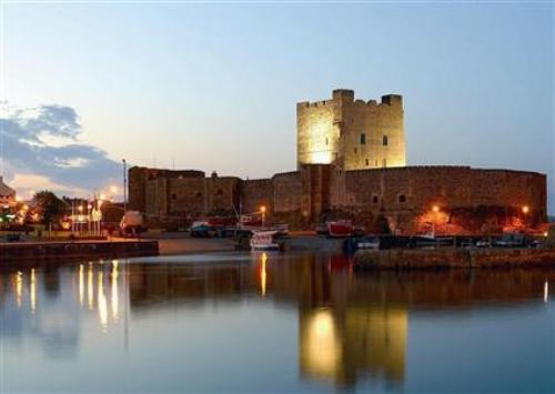 Carrickfergus Castle at Night