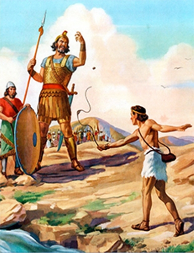 David and Goliath Battle
