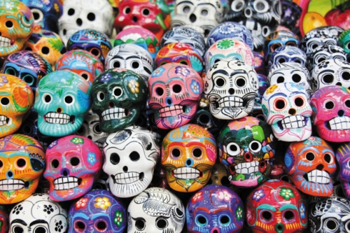 Day of The Dead Mexico Skulls