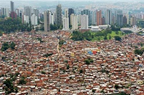 Dharavi Slum Skyline