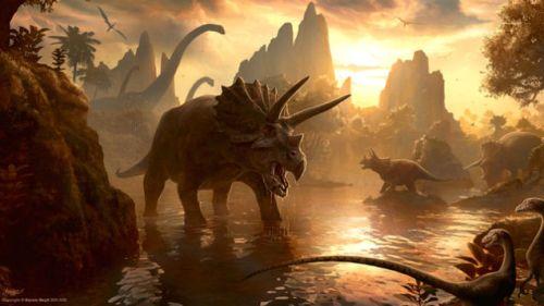 dinosaur extinction images