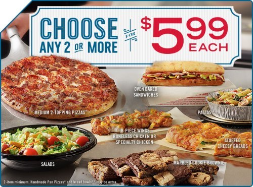 dominos menu