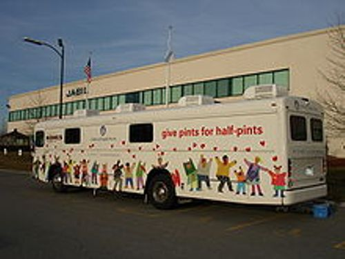 donating blood bus