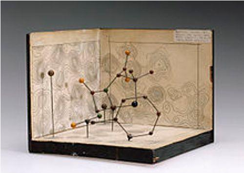 dorothy hodgkins molecular model of penicillin
