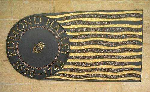 Edmond Halley Plaque