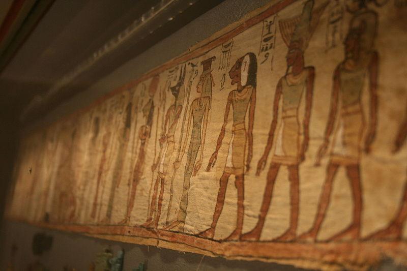 Painted mummy bandage