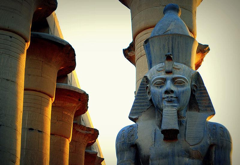 Ramses II in Luxor Temple