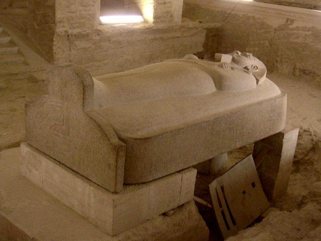 Stone sarcophagus of Pharaoh Merenptah