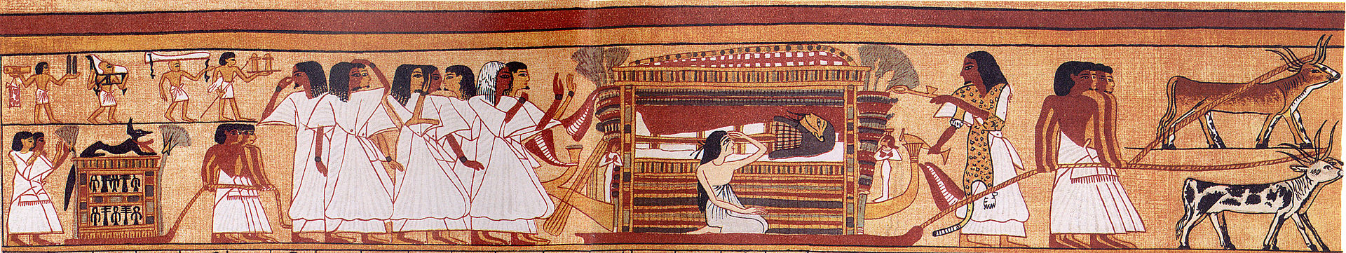 funeral procession in the Book of the Dead