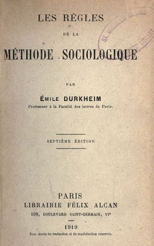 Facts about Emile Durkheim